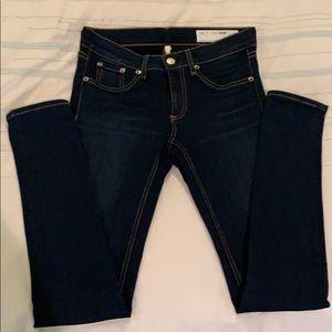Rag and Bone skinny dark wash jeans